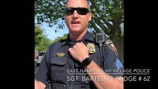 "POLICE RAID MY YARD SALE - "" Major Violations "" Found - SGT Bartelme #62 East Hampton, NY Village PD"