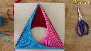 Simple and creative String Art Triangle | DIY | AlReves
