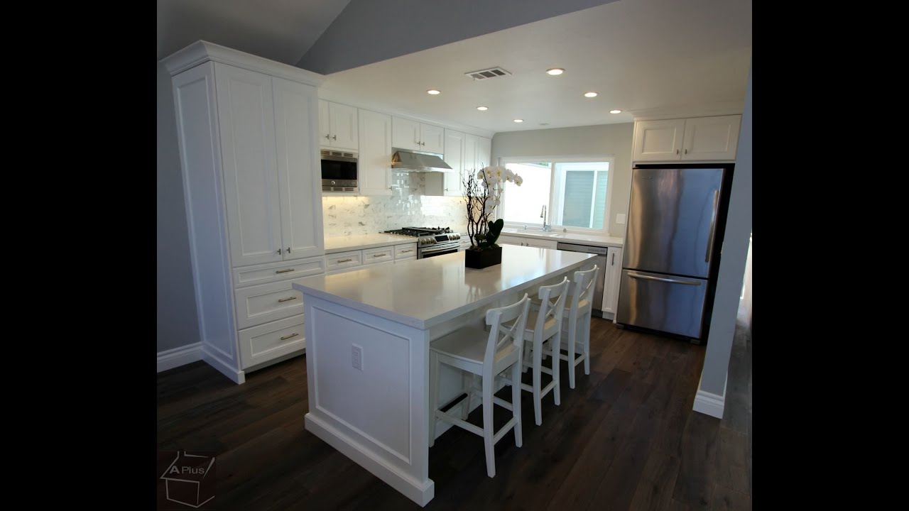 Whole House Remodel with Custom White Cabinets in Irvine By APlus Interior  Design & Remodeling - YouTube