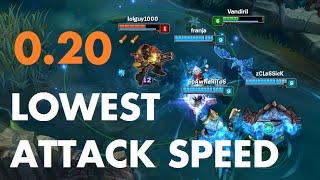 Lowest Attack Speed - 0.20!