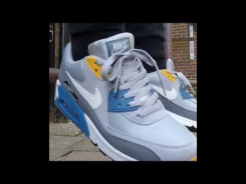 super popular 613bb 3f4b0 Nike Shoes Mens Air Max 90 Essential Wolf Grey White Indigo Storm