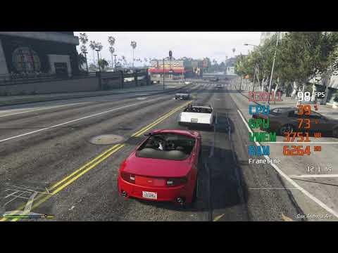 GeForce RTX 2060 -- AMD Ryzen 5 2600 -- Grand Theft Auto V GTA V FPS Test