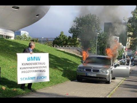 Halter setzt seinen BMW in München aus Protest in Brand. VOL 9