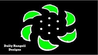 Very Simple Kolam with 7X4 Dots | Deepam Kolam |Easy Rangoli Muggulu Designs | Easy Kolangal #848