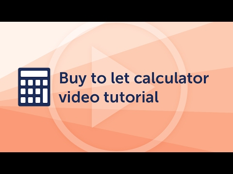 Buy to let calculator video tutorial