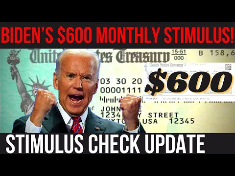 BIDEN'S $600 MONTHLY STIMULUS! 4th Stimulus Check + NEW DEADLINE + Social Security Increase