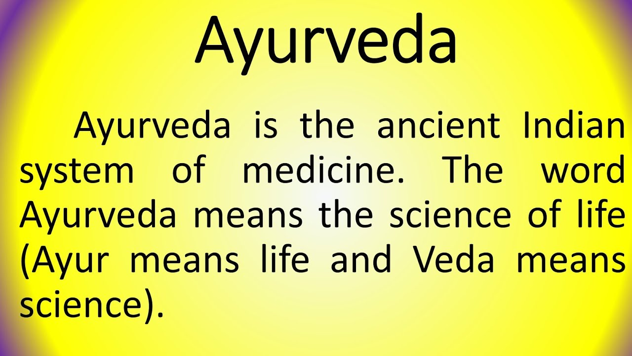 Download Essay on Ayurveda in English by Smile please world