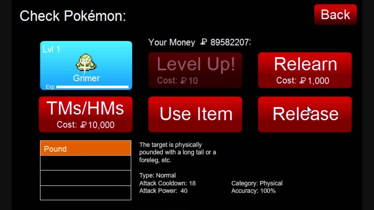 Pokemon Tower Defense Grimer Mystery Gift Code Shiny Grimer Contest Ptd 5 5 Youtube