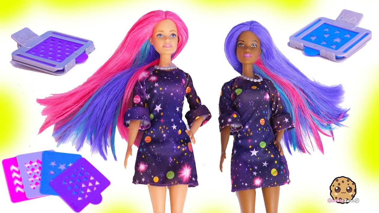 Barbie Color Change Surprise Hair At Style Salon - Water Play Toy ...