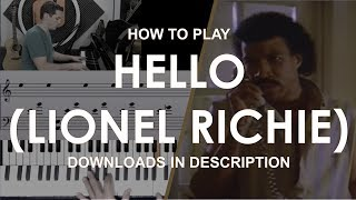How to play Hello by Lionel Richie