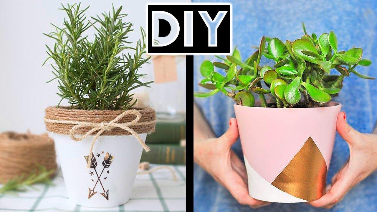 How To Make Creative Diy Flower Pots Decor Ideas Room Decor