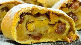 Подарите хорошее настроение! Яблочный штрудель с хрустящей корочкой - лучший десерт! | Appetitno.TV