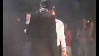 Earnest Valentino  and Michael Jackson on Stage