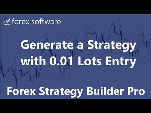 Generate A Strategy With 0.01 Lots Entry - Forex Strategy Builder Professional
