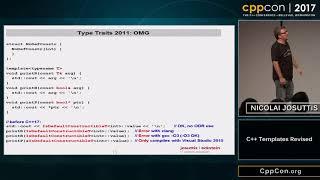 """CppCon 2017: Nicolai Josuttis """"C++ Templates Revised"""""""