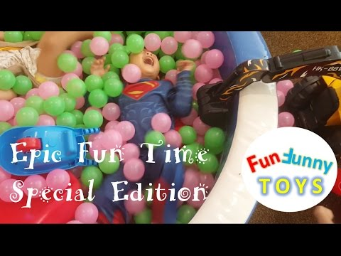 Superman Epic Playground 'Sand'pit Ball pit fun for children Fun Funny Toys Review