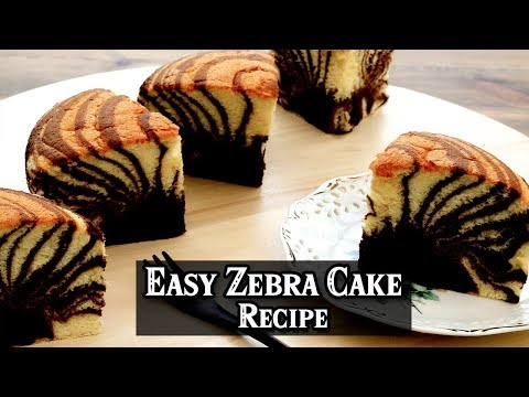 How to Make Easy Zebra Cake Recipe | MR Recipes
