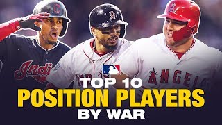 2018's Top 10 Position Players by WAR