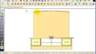 Topsolid Wood Tutorial - Tv Cabinet 2-07 Panel Cutout