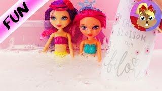 超级 可爱 Barbie 芭比 娃娃 Mini 紫色 粉色 彩色 美人鱼 公主 兰公主 粉公主 对比 比较 介绍 展示