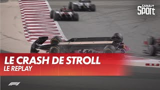 Le replay du crash de Lance Stroll