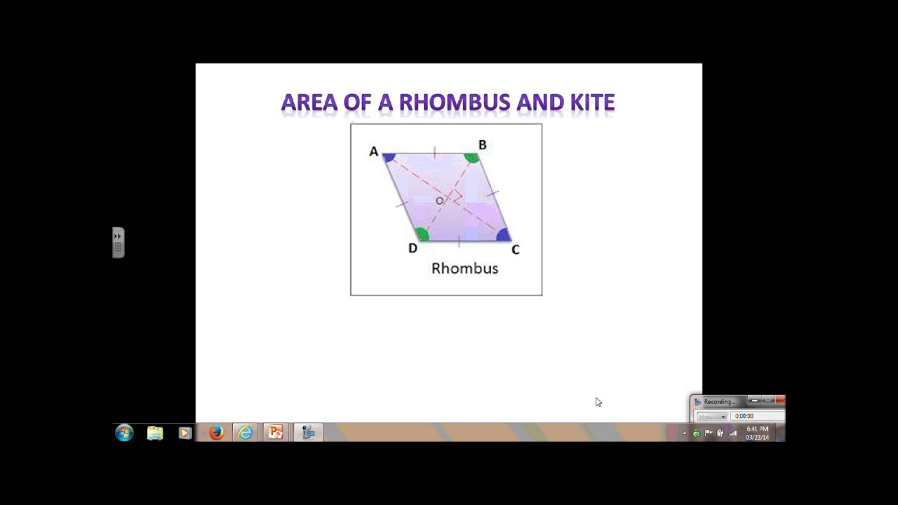Geometry Lesson 10 2 Area Of T Zoid Kite And Rhombus