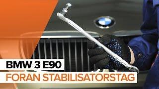 Hvordan bytte foran stabilisatorstag på BMW 3 E90 BRUKSANVISNING | AUTODOC