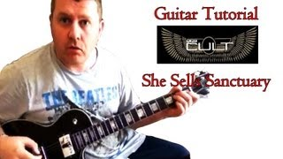 How To Play The Cult - She Sells Sanctuary - guitar lesson