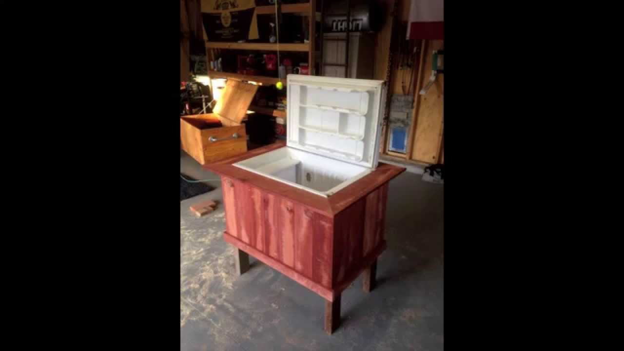 Delightful DIY How To Turn An Old Mini Fridge (refrigerator) Into A Deck/patio/party  Cooler   YouTube