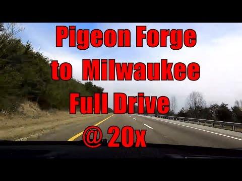 Tesla Road Trip! Pigeon Forge TN to Milwaukee Wi at 20x Speed! 710 Miles