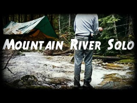 Bushcraft Solo Overnight | Canadian Mountain River