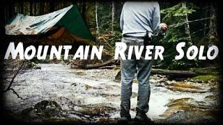 mountain river solo overnight   hammock bushcraft trip