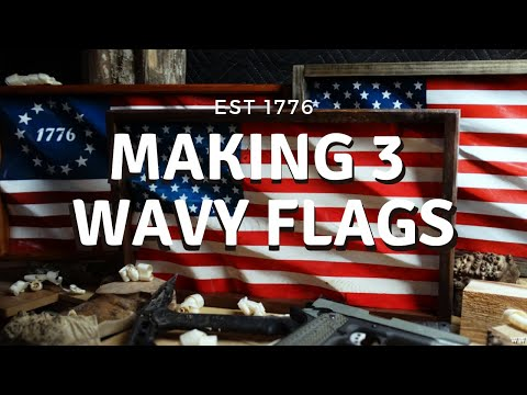 Making 3 Small Wavy Flags