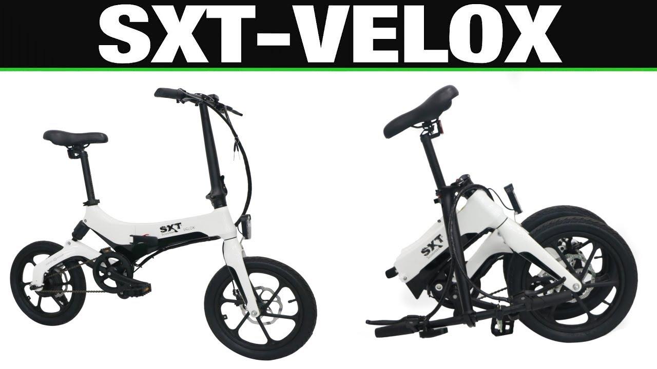 sxt velox ebike pedelec klapprad fahrrad test. Black Bedroom Furniture Sets. Home Design Ideas