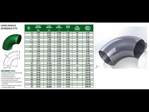 Como hacer un codo de ( 90 Grados radio largo ) en Solidworks 2014