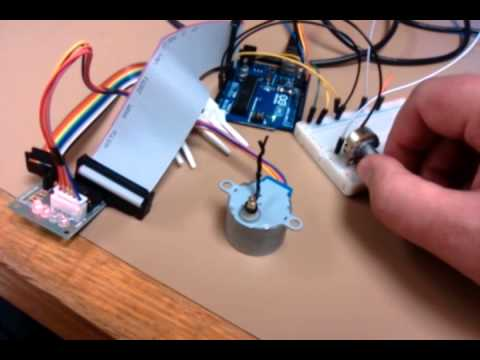 Step motor potentiometer control with arduino youtube for Controlling a stepper motor