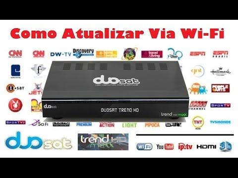 Atualizar Duosat Trend Maxx E Trend Hd Via WiFi, Nova Att Em 05/04/17 - Tutorial