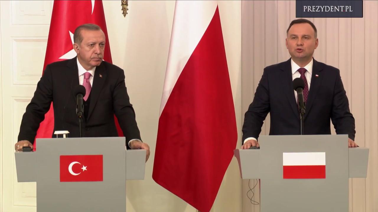 Spotkanie prezydentów Polski i Turcji z mediami