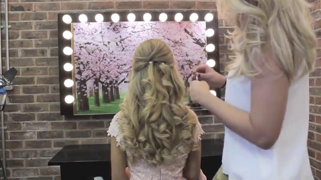 bridal hair ireland - using clip in hair extensions