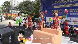 SMP 144 JAKARTA IKUT AKSI TARI TOPENG SAMBA DI HBKB DANAU SUNTER Minggu 17 Maret 2019
