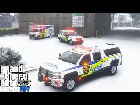 gta-5-mod-york-region-paramedic-services-ems-rapid-response-chevy-silverado-responding-in-the-snow