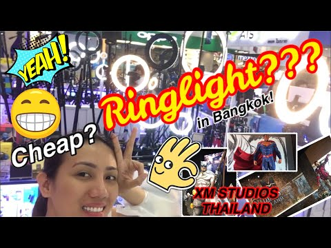 CHEAP RINGLIGHT IN BANGKOK | XM STUDIOS TOYS KING STORE TOUR | VLOG # 8