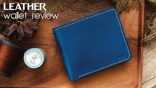 Leather wallet review by Munkong Leather : HandCraft