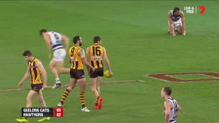 Watch the last two minutes: Geel v Haw - AFL