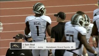 Sam Beal (Western Michigan CB) Vs. Eastern Michigan 2017