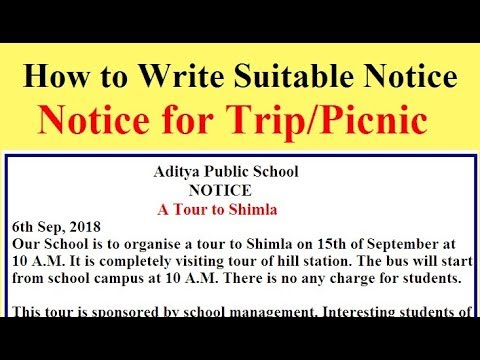 report writing on school picnic