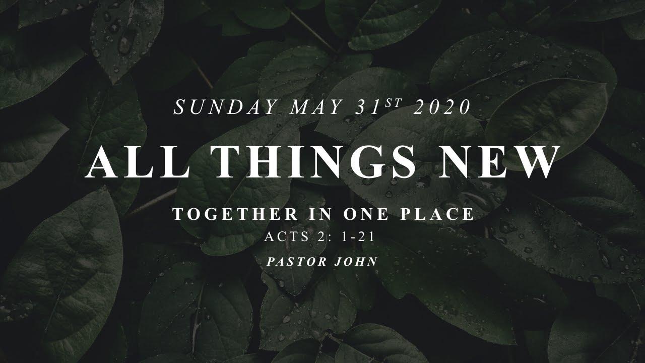 Sunday, May 31, 2020