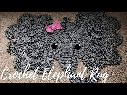 Elephant crochet baby rug/mat | Etsy | 360x480