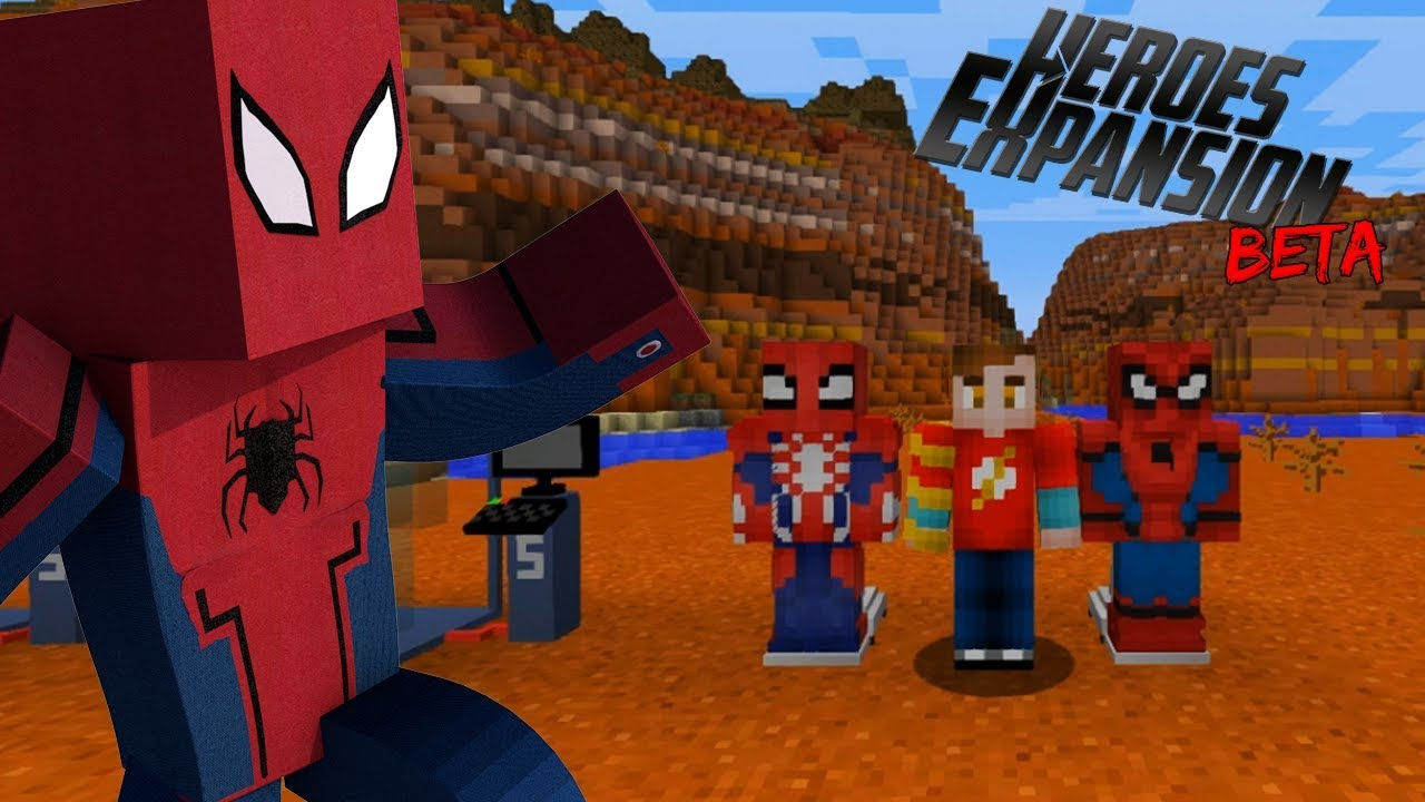 COMO ser SPIDERMAN en MINECRAFT | SPIDERMAN HOMECOMING | HEROES EXPANSION  MOD 1 12 | MINI REVIEW MOD