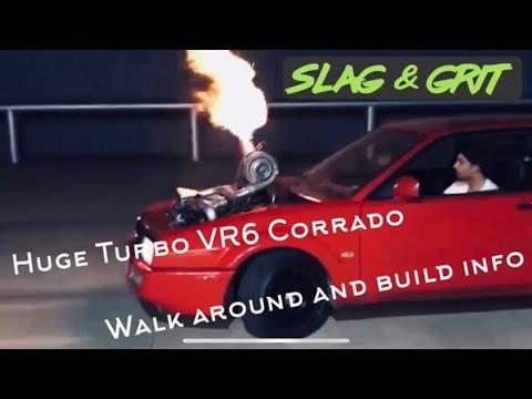 Huge Turbo flamethrower VW Corrado VR6!!